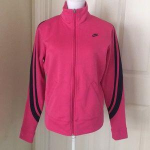Nike pink athletic jacket size large